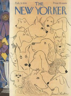 James Thurber : Cover art for The New Yorker 1095 - 9 February 1946