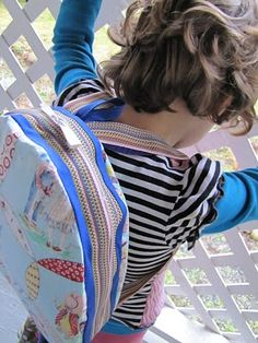 zippered back pack (with pattern)