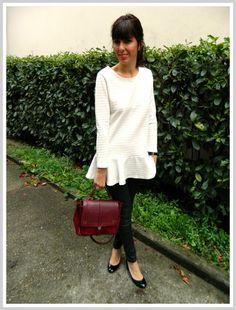 Une tunique blanche ou une robe? A vous de choisir. Galliane blog avec une tunique blanche MY TOKKI