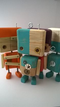 Brick Crafts, Wood Block Crafts, Wooden Crafts, Diy And Crafts, Crafts For Kids, Driftwood Projects, Small Wood Projects, Woodworking For Kids, Woodworking Crafts