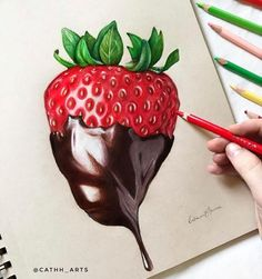 Take Your Art to the Next Level Develop a design that captivates all the senses and find your own unique style with Arteza Colored Pencils. Shop now and start creating! Mouthwatering piece by ? Colored Pencil Artwork, Pencil Art Drawings, Cool Art Drawings, Realistic Drawings, Colorful Drawings, Art Drawings Sketches, Drawings With Colored Pencils, Pencil Sketching, Unique Drawings