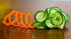 How to Make a Carrot Slinky and Cucumber Garnish. for more sushi pics follow me here: @makesushiorg #food #art Also check out these sushirecipes here: www.makesushi.org/basics/