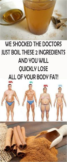 WE SHOCKED THE DOCTORS: JUST BOIL THESE 2 INGREDIENTS AND YOU WILL QUICKLY LOSE ALL OF YOUR BODY FAT! #health #beauty #remedy #fat #fitness