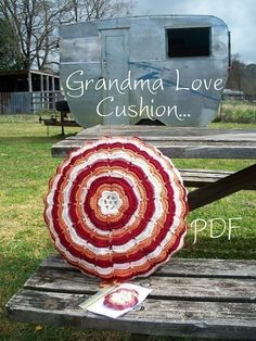Grandma Love Cushion Pattern PDF. $6.00, via Etsy. Like it better in turquoise, lime, and white but here is the pattern.
