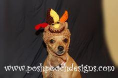 Turkey+Dog+hat++Turkey+Dog+beanie++Small+Dog+by+poshpoochdesigns,+$10.99