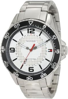Men's Wrist Watches - Tommy Hilfiger Mens 1790838 Sport Stainless Steel case and bracelet with white dial Watch * Be sure to check out this awesome product.