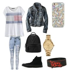 """""""Edgy/cute"""" by cisnerosal on Polyvore featuring Converse, American Eagle Outfitters and Lacoste"""