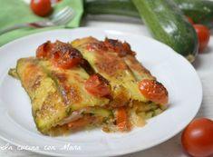 Pasticcio di zucchine alla pizzaiola, un saporito piatto unico che racchiude i profumi ed i sapori tipicamente mediterranei
