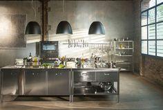 COMPOSIZIONE CUCINA A BLOCCHI 195X320 | Cucine, Cucina e Idee