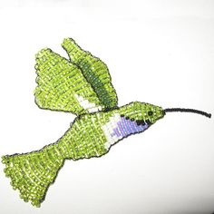 Beaded Hummingbird Embellishment or Sun catcher by patereeves, $12.50