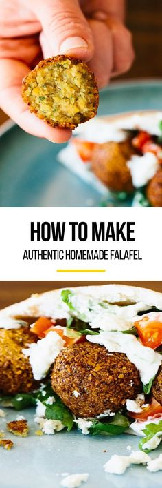 How to Make the Best Authentic Homemade Falafel. This DELICIOUS wholesome and healthy vegan recipe is perfect if you're looking for new ideas for dinners and meals for families. We recommend using dried chickpeas over canned. Don't skip the tahini sauce! Vegetarian Recipes, Cooking Recipes, Healthy Recipes, Cooking Tips, Falafels, Tahini Sauce, Appetizers For Party, A Food, Deep Fryer