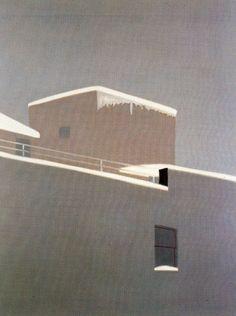 Building Painting, House Painting, Landscape Art, Landscape Paintings, Landscapes, Wilhelm Sasnal, Alex Katz, City Sketch, Pop Art Movement