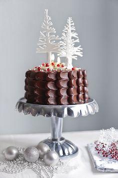 Yoghurt cake with Companion - HQ Recipes Chocolate Navidad, Chocolate Christmas Cake, Christmas Sweets, Christmas Goodies, Christmas Baking, Chocolate Cake, Christmas Cakes, White Chocolate, Christmas Cake Decorations