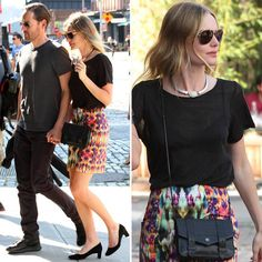 Kate Bosworth's Proenza Schouler Chain Wallet: If you seek a small black bag, this Proenza Schouler black chain wallet ($785) that Kate wore in NYC is perfection.   Shop her entire look here.
