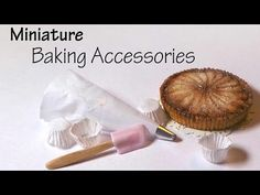 How to: Miniature baking supplies - cupcake Liners, piping bag & spatula - YouTube
