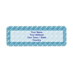 Baby Blue Return Address Label. Over 600 products in light blue and pink square designs for your baby. You can find the folder here: http://www.zazzle.com/marianaewapattern/gifts?cg=196436766209453623&sr=250686029089167129&ch=marianaewapattern&rf=238857619179039626