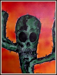 #skull #cactus #desert # Arizona #tattoofacemiller #plants #creepy
