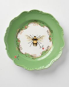 We would love to have these dessert plates in our cabinets! Get them here: http://www.bhg.com/shop/anthropologie-natural-world-dessert-plate-bee-p5093e82be4b0b4696e246c56.html?mz=a Ballard Designs, New China, Bee In My Bonnet, Nature Table, Vignettes, Wedding Details, Sports Luxe, Anthropologie, Decorative Plates