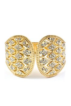 Golden Larima Crystal Cuff