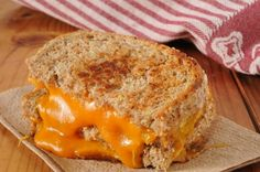 Our Clean Eating Grilled Cheese is made with reduced fat cheddar, whole wheat bread, and olive oil and it is tasty!  #cleaneatinggrilledcheese