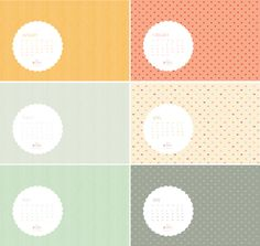 printables - desktop calendar and others - free from the Studio of Mae