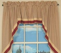These Park Designs Apple Jack swags are in size. These Apple Jack swags are a great way to compliment other fine Apple Jack curtains offered. Apple Jack Window treatments are perfect for country primitive home decor. Apple swags look great! Swag Curtains, Valance, Apple Jack, Country Curtains, Farm Curtains, Primitive Kitchen, Rustic Kitchen, Woodland Nursery Decor, Baby Deer