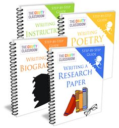 Step-by-Step Writing Guides for Kids~ Biography, Research, Poetry & Instructional.  $15 Bundle Pack