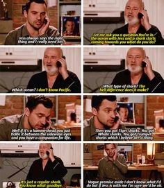 """""""Jess always says the right thing and I really need her"""" - Nick and Bob #NewGirl"""