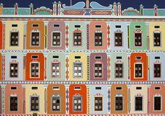 Colourful facade of Buqshan hotel in Khaila - Yemen by Eric Lafforgue, via Flickr