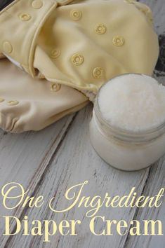 One Ingredient Diaper Cream - You can't get any easier than one ingredient! This is the world's easiest diaper cream and it's still super effective! #clothdiapers #diaperrash #diapercream #coconutoil #natural