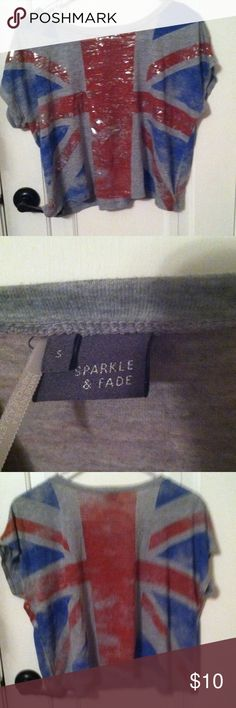 Sparkle and Fade crop top This adorable British crop top so pretty old but hardly worn! It's sparkle and fade brand and it certainly hasn't faded (although came with faded look, hence the name). Sparkle & Fade Tops Crop Tops