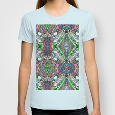 Neon Pinstripes 2 B T-shirt by K Shayne Jacobson - $18.00