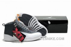 3027b8ce71a049 Discover the Air Jordan 12 Retro Hardcover Men Shoes Grey White Orange  Christmas Deals collection at Pumarihanna. Shop Air Jordan 12 Retro  Hardcover Men ...