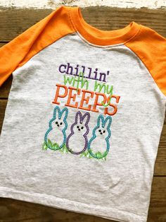2208bb8f Chillin' With My Peeps Easter Raglan Shirt by LaundryRoomSanctuary Easter  Shirts For Boys, Easter