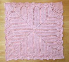 Tiffany Lace Baby Blanket | AllFreeKnitting.com