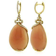 William Lam & Co orange moonstone earrings