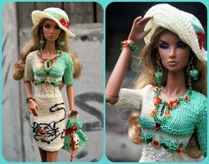 https://flic.kr/p/VV7TPH | OOAK outfit with cats: dress, jewelry, bag, hat for FR2 Nu Face Poppy Parker | www.ebay.com/itm/112447507463?ssPageName=STRK:MESELX:IT&a...