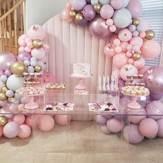 Cadeau Baby Shower, Deco Baby Shower, Baby Girl Shower Themes, Girl Baby Shower Decorations, Baby Shower Balloons, Baby Shower Parties, Birthday Decorations, Paris Baby Shower, 1st Birthday Party For Girls