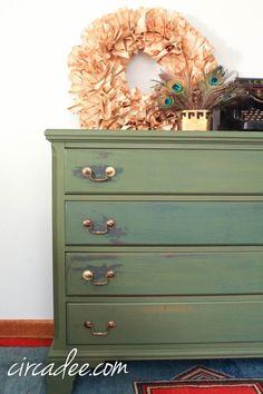 boxwood milk paint dresser