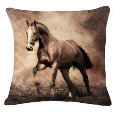 Decorative pillow cover with lovely horse print #Bont #AnimalPrint
