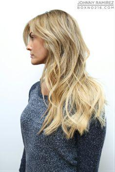 Hair Color by JOHNNY RAMIREZ •   IG: @johnnyramirez1 • Ramirez|Tran Salon • 310.724.8167 • info@ramireztran.com // #ramireztran #johnnyramirez #ramireztransalon #boxno216 #beautifulhair #wavyhair #beforeandafter #brunette #blonde #beverlyhills #hairinspiration #summerhair #beachhair #colorcorrection