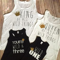 SET of 4 Queen and King of all Wild Things by CloudNineandCompany