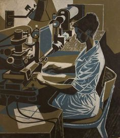 cliff rowe(1904–89), woman machinist, 1966. oil on board, 130 x 103 cm. people's history museum, uk http://www.bbc.co.uk/arts/yourpaintings/paintings/woman-machinist-206584