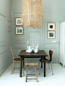 Looking for small dining room ideas? Tons of dining room inspiring Ideas! Find the most suitable design and improve your home's decoration! Small Apartment Living, Small Apartments, French Apartment, Small Spaces, Sweet Home, Luminaire Design, Small Dining, Dining Room Design, Dining Rooms