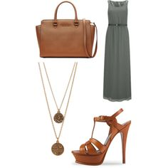 A fashion look from February 2015 featuring ONLY dresses, Yves Saint Laurent sandals and MICHAEL Michael Kors tote bags. Browse and shop related looks.