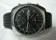 ALPINA Vintage Chronograph watch with 7750 movement from the seventies, featuring a pulsations meter.
