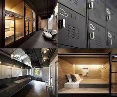 Resultado de imagen para make capsule hotel beds