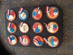 Cupcakes wk voetbal 2014