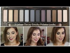 3 Looks 1 Palette: Urban Decay Naked Smoky Palette Urban Decay Makeup, Urban Decay Eyeshadow Palette, Smoky Palette, Naked Palette, Eye Makeup Tips, Skin Makeup, Beauty Makeup, Hair Beauty, Makeup Ideas