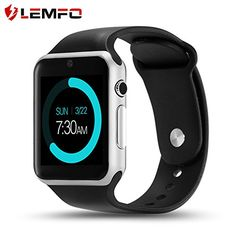 LEMFO IW08 Smart Watch Cell Phone Fitness Tracker Bluetooth WristWatch with Camera for Android Smartphones (Silver Black) -  http://www.wahmmo.com/lemfo-iw08-smart-watch-cell-phone-fitness-tracker-bluetooth-wristwatch-with-camera-for-android-smartphones-silver-black/ -  - WAHMMO